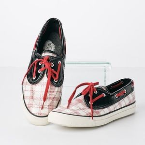 Sperry Top-Sider Pink Plaid Sequin Boat Shoes 9.5